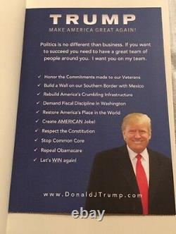 SIGNED Autograph President DONALD TRUMP THINK LIKE A BILLIONAIRE, Official Store