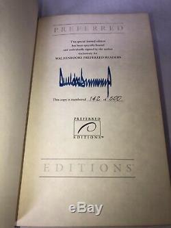 Signed Autographed Preferred #142 DONALD TRUMP SURVIVING TOP President AUTOGRAPH