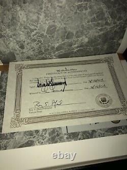 Signed DONALD TRUMP First Edition 2004 Easton Press, Autographed How to Get Rich