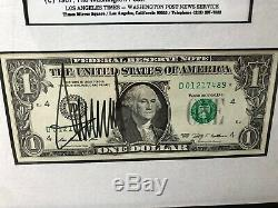 Signed Donald Trump $1 Bill, 1990 Playboy Magazine, Washington Post Photograph