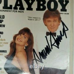 Signed Donald Trump Autographed Playboy Magazine March 1990 with camnera phone