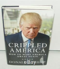 Signed Numbered PRESIDENT Donald Trump W COA Crippled America Make Great Again