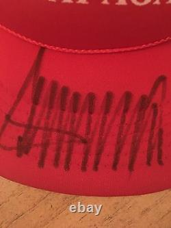 Signed Red Donald Trump Hat