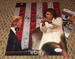 Speaker Nancy Pelosi Signed 8x10 Photo Jsa Autograph Donald Trump Clap Clapback