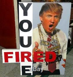 Steve Kaufman Donald Trump You're Fired Hand Signed Amazing Condition & Coa