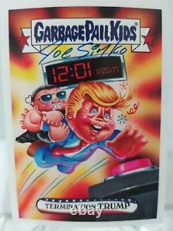 Termination Trump Garbage Pail Kids GPK Inaug-Hurl Ceremony Card 2b Signed Simko