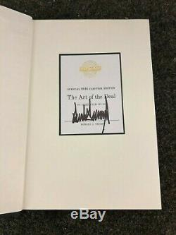 The Art Of The Deal Signed By President Donald Trump 2016 Election Edition