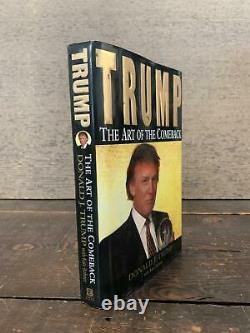 The Art of the Comeback by President DONALD J. TRUMP SIGNED FIRST EDITION 1997