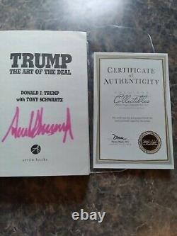 The Art of the Deal paperback autographed by Donald Trump with COA