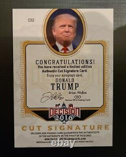 Trump autograph card signature cut gold 2016 decision president ROOKIE card