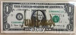 US President Donald Trump Signed Auto One Dollar Bill $1 in Gold BEST on ebay