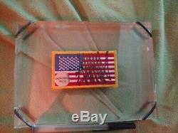 US President Donald Trump Signed Auto flag patch FUNNY IRONIC in acrylic