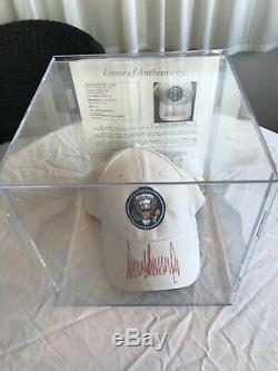 US President Donald Trump Signed White House Hat