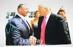 WWE CEO VINCE MCMAHON SIGNED AUTHENTIC 11x14 PHOTO withCOA PROOF DONALD TRUMP WWF