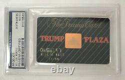 Willie Mays Signed Donald Trump Plaza Casino Card Auto PSA DNA