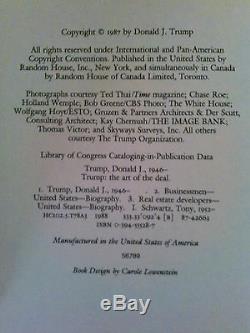1987 L'art De L'accord Signé Par Donald Trump, Très Rare Relié