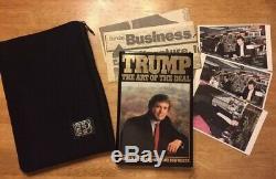 1987 Président Donald J Trump Autograph Autographié Art De Deal Signé Signature