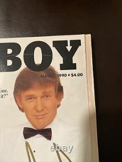 1990 Le Président Donald Trump A Signé Playboy, Très Rare