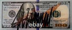 (2) Donald Trump Signé Main Consécutif # $ 100 Dollar Bills Jsa-authentifié
