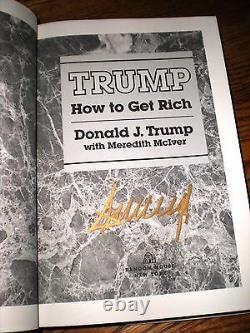 2 Signé Hc-président Donald Et Ivanka Trump Comment S'enrichir + La Trump Card