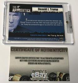2005 Comic Images L'apprenti Donald Trump, Carte De Collection Auto Signée N ° 1, Dg Coa