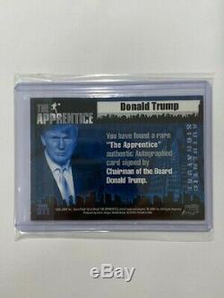 2005 Comic Images Le Donald Trump Apprentice Autographié Trading Card # Dt1