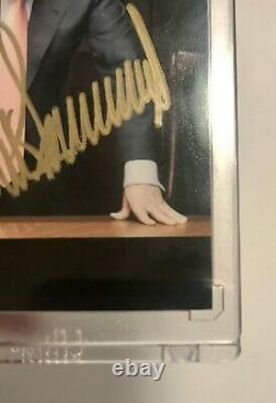 2005 Comic Images The Apprentice Donald Trump Auto Signed Trading Card # 1 Dg Coa