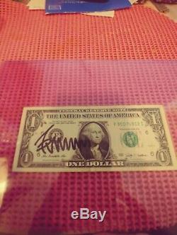 2009 2016 Président Donald Trump U. S. $ 1,00 Bill Autographe L @@ K