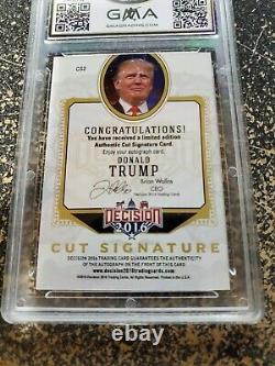 2016 Décision Donald J Trump Cut Signature Autographe Gma 8.5 Président