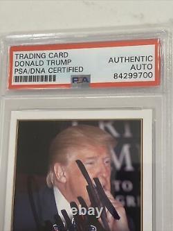 2016 Le Président Donald Trump A Signé La Carte Des Finalistes, Psa/dna, Très Rare