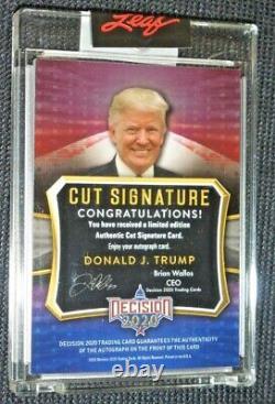 2020 Décision Premium Cut Signature Donald J Trump Auto #d 1/10 Signé Autographe