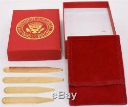 2020 Président Donald Trump Maison Blanche Boxed Gift Signe Séjours Collier D'or