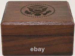 2020 Président Donald Trump Maison Blanche Cadeau Cobalt Potus Seal Cufflinks Signé