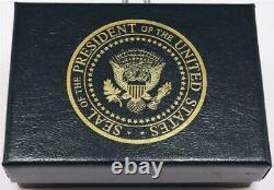 2020 Président Donald Trump Maison Blanche Cadeau Us Flag Potus Seal Cufflinks Signé