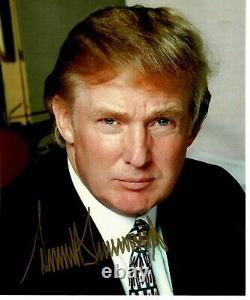 45e Président Américain Donald Trump Signé À La Main 8x10 Photo Couleur Todd Mueller Coa