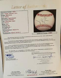 45e Président Donald Trump A Signé Oml Baseball Jsa Full Letter/psa Coa