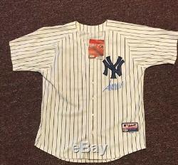 45ème Président De U Donald Trump Autographed Jersey New York Yankees Bas Rare