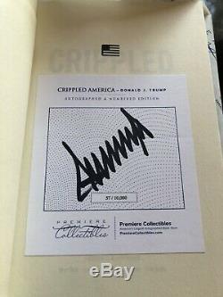 57 Personnellement Signe Crippled Amérique Authentique Autograph Président Donald Trump
