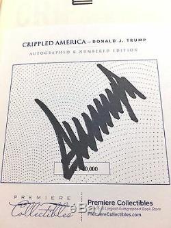 # 92 Président Signé Donald Trump Crippled Amérique Autographié Sur Mesure Bookplated