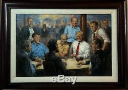 Andy Thomas Le Club Républicain Signé Donald Trump Encadré Sur Toile 23 X 17