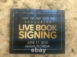 Art Of The Deal Autographied Paperback Hand Signé Par Le Président Donald Trump