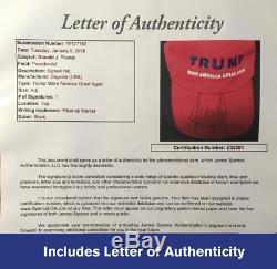 Assurez-vous De Nouveau En Amérique Du Grand Chapeau Maga Signé Par Le Président Donald Trump Unique