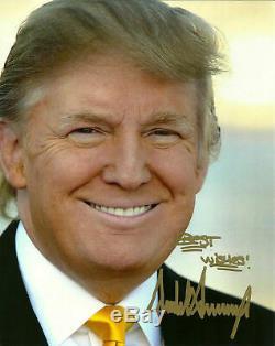Atout Autographe Donald Signé Photo 8x10 45ème Président Des Etats-unis