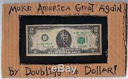 Atout Dollar Art Donald Original Vote Politique Républicain USA Extérieur Amérique