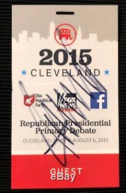 Atout Donald Signe 1st Républicain Débat Credential Cleveland Ga Authenticité
