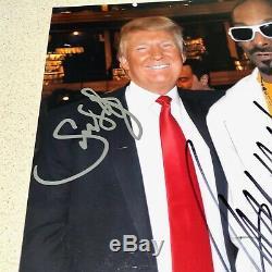 Atout & Donald Snoop Dogg Signé Dédicacé 8x10 Potus 45e Président Psa Coa