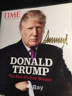 Atout Gold Signe Donald Magazine Time Special Edition Autograph Rare