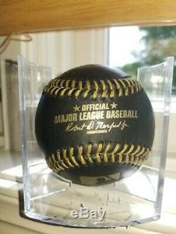 Atout & Mike Donald Pence Double Signe Baseball Noir Avec Pic Preuve