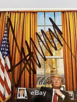 Atout Psa Dna Donald Autographe Photo Bureau Ovale De La Maison Blanche Maga
