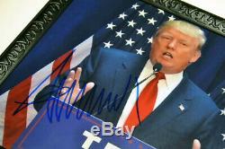 Atout Signé Autograph Donald, Coa, Uacc, Psa / Adn Garanti, Cadre, Hat, Papier